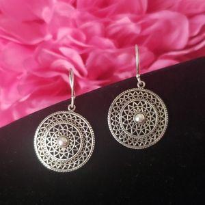 Vintage 925 Sterling Silver Earrings